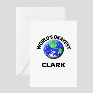 World's Okayest Clark Greeting Cards